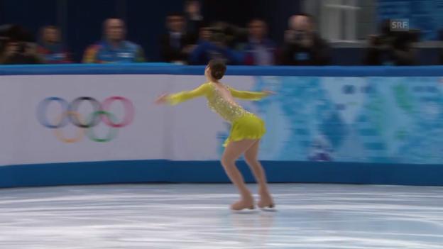 Video «Eiskunstlauf: Das Kurzprogramm von Yu-Na Kim (sotschi direkt, 19.02.2014)» abspielen