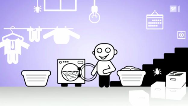 Video «Ewiger Streitpunkt Waschküche» abspielen