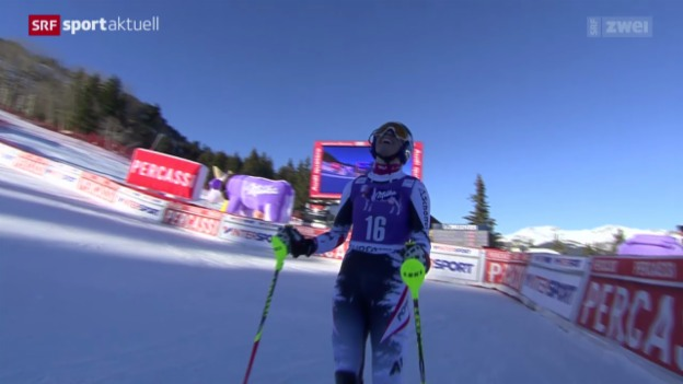 Video «Ski: Slalom Frauen Courchevel» abspielen