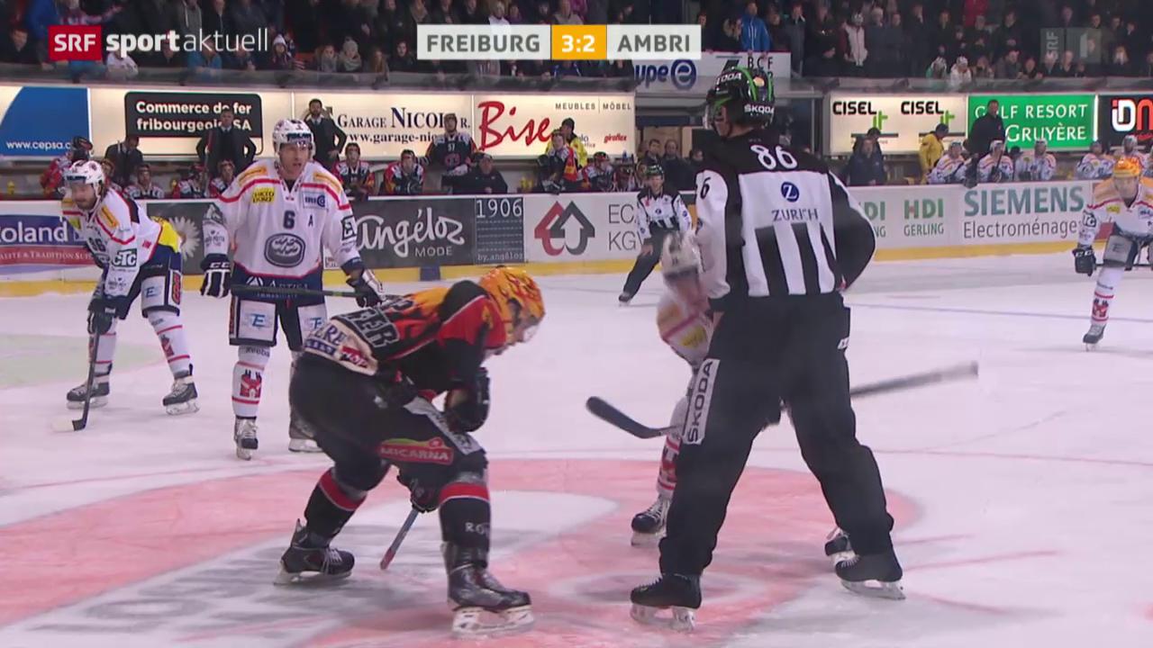 Eishockey: NLA, Freiburg - Ambri