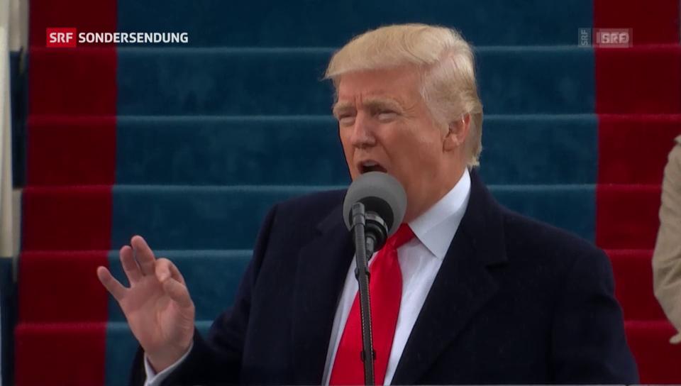 Die Antrittsrede von US-Präsident Donald Trump