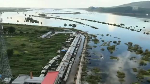 Video «Schweren Unwettern in China (unkomm.)» abspielen