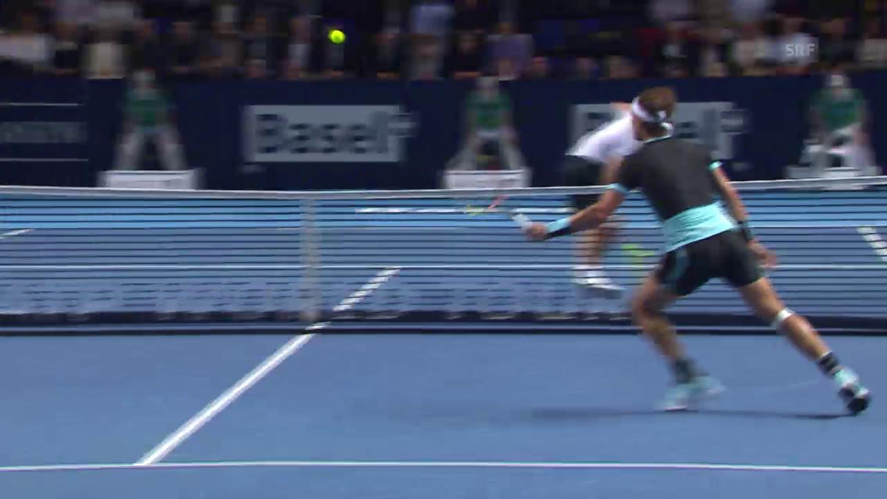 Tennis: Swiss Indoors in Basel, Halbfinal Nadal - Gasquet