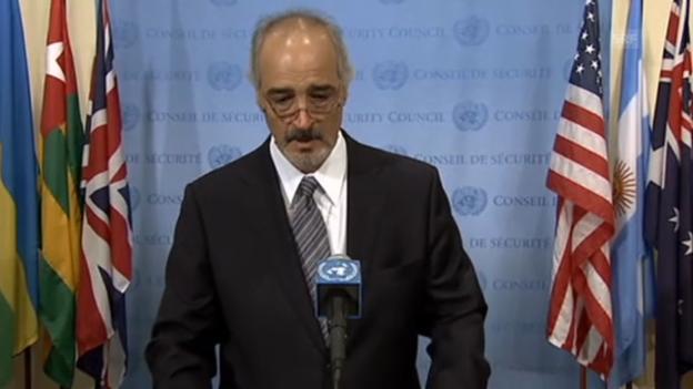Video «Syriens UNO-Botschafter spricht von Kooperation (engl.)» abspielen