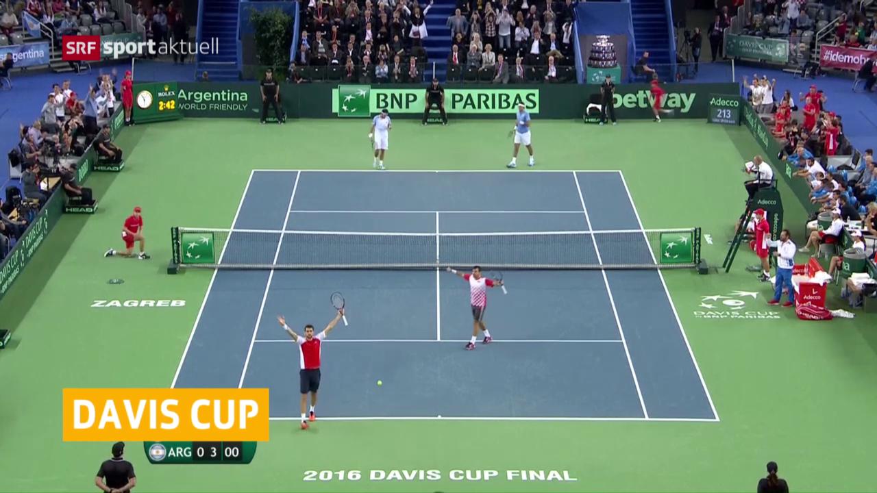 Kroatien führt im Davis-Cup-Final nach dem Doppel