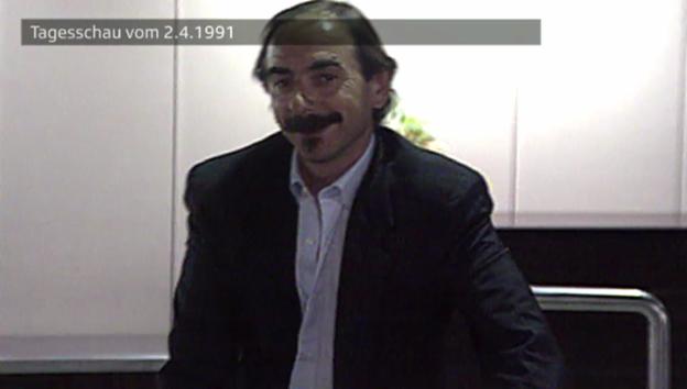 Video «Ankunft Xavier Koller (Tagesschau vom 2.4.1991)» abspielen