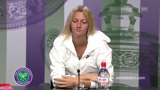 Video «Tennis: Wimbledon, Kvitova nach ihrem Out» abspielen