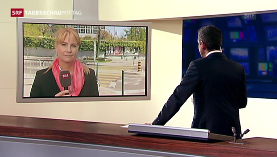 SRF-Korrespondentin Alexandra Gubser zur Ausgangslage in Genf