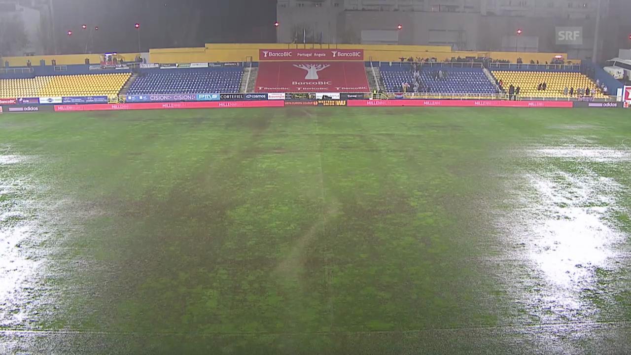 Fussball: EL, Regen in Estoril