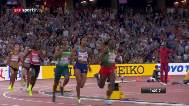 Video «Semenya dominiert über die 800 m» abspielen