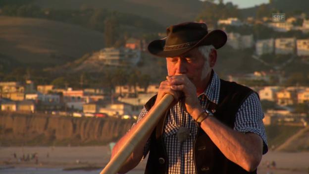 Video «Meinrad Meier und sein Alphorn in Kalifornien» abspielen