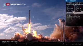 Video «Erfolgreicher Start der «Falcon Heavy»» abspielen
