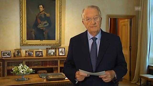 Ausschnitte aus der Fernsehansprache von König Albert II.