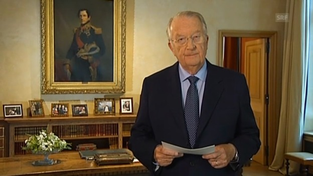 Video «Ausschnitte aus der Fernsehansprache von König Albert II.» abspielen
