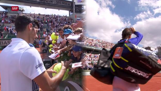 Video «Djokovic und Nadal im Gleichschritt» abspielen