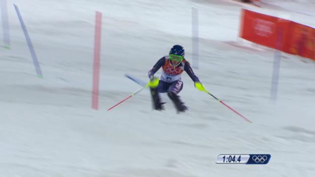 Video «Ski: 2. Lauf Mikaela Shiffrin (sotschi direkt, 21.02.2014)» abspielen