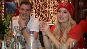 Video «Sanna Lüdi feiert ihren 28.Geburtstag in Sotschi » abspielen