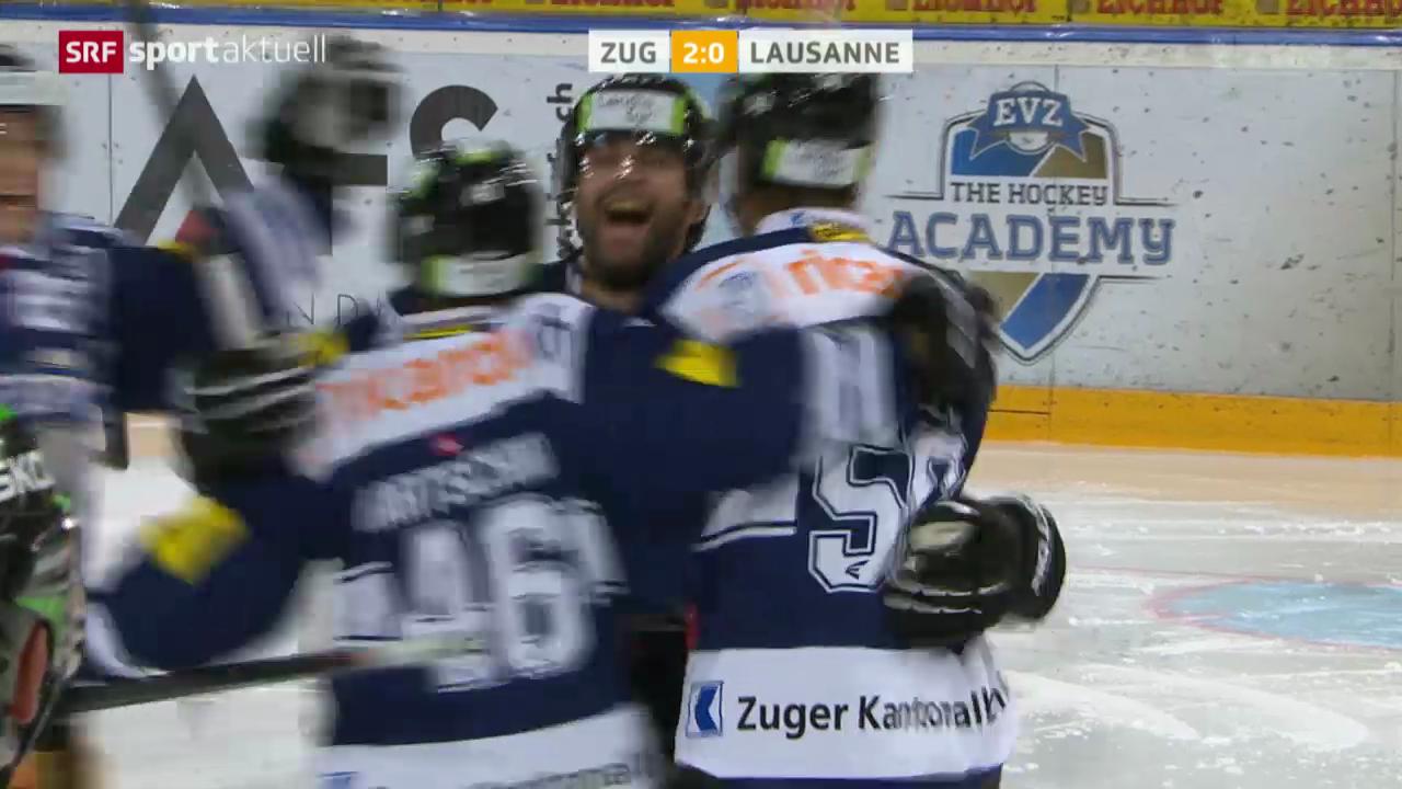 Eishockey: Zug-Lausanne