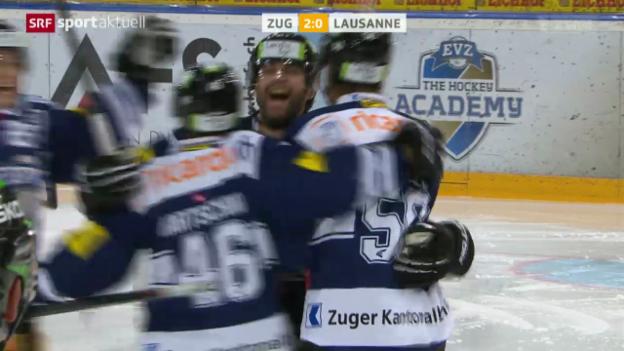 Video «Eishockey: Zug-Lausanne» abspielen