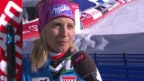 Video «Ski alpin: WM 2015 in Vail/Beaver Creek, Super-Kombi Frauen, Interview mit Michaela Kirchgasser» abspielen