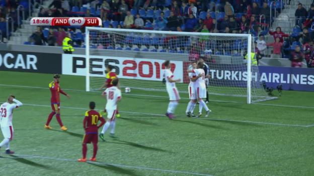 Video «Andorra - Schweiz: Die Live-Highlights» abspielen