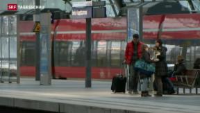 Video «Deutsche Bahn will Notbremse beim Streik ziehen» abspielen