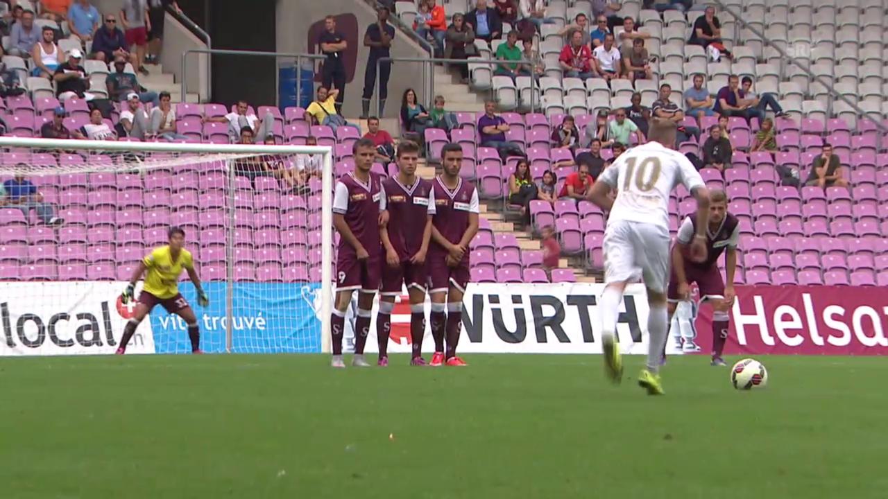 Fussball: Cup, Tore Servette - Luzern