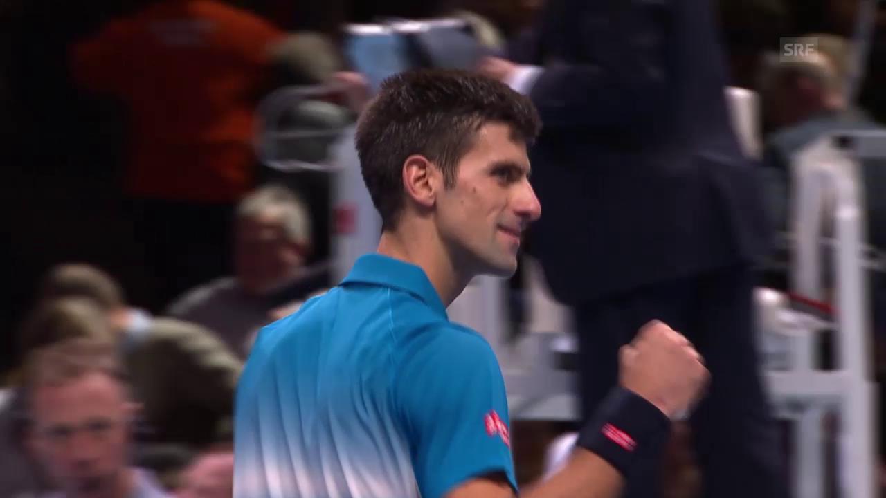 Tennis: ATP Finals, Spielbericht Federer - Djokovic