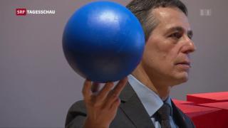 Video «Ignazio Cassis Bilanz nach 100 Tagen» abspielen