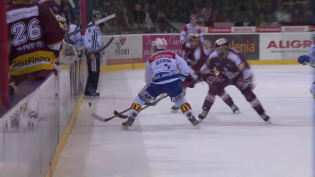 Video «Eishockey: Zusammenfassung Genf - ZSC Lions» abspielen