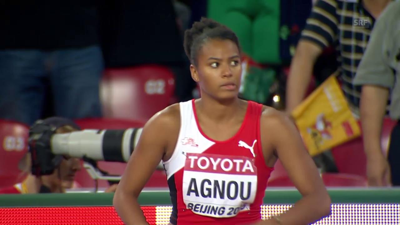 Leichtathletik: WM Peking, Siebenkampf Tag 1