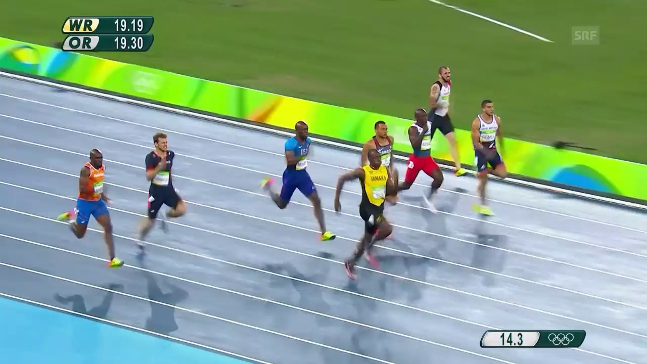 Bolts Olympia-Gold über 200 m 2016 in Rio