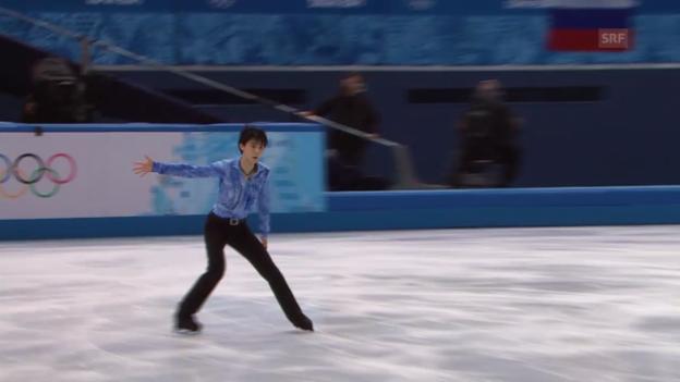 Video «Eiskunstlauf, Männer: Kurzprogramm von Yuzuru Hanyu (sotschi direkt, 13.2.2014)» abspielen
