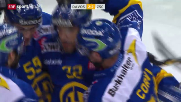 Video «Eishockey: Playoff-Final, HC Davos - ZSC Lions» abspielen
