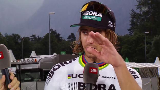 Video «Sagan über seine Chancen auf der Königsetappe» abspielen