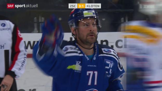 Video «Eishockey: NLA, ZSC Lions - Kloten Flyers» abspielen