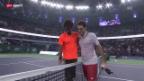 Video «Tennis: Federer verliert in Schanghai gegen Monfils» abspielen