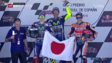 Video «Altmeister Valentino Rossi meldet sich zurück» abspielen