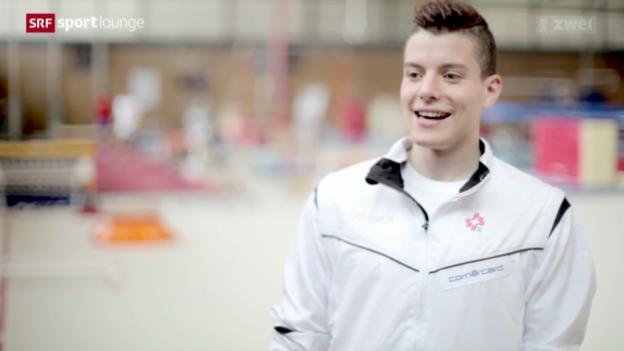 Video «Pechvogel Lucas Fischer träumt wieder von einer Kunstturnmedaille» abspielen
