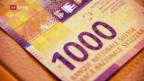 Video «Neues Design, altes Problem: Die 1'000er-Note und Geldwäscherei» abspielen