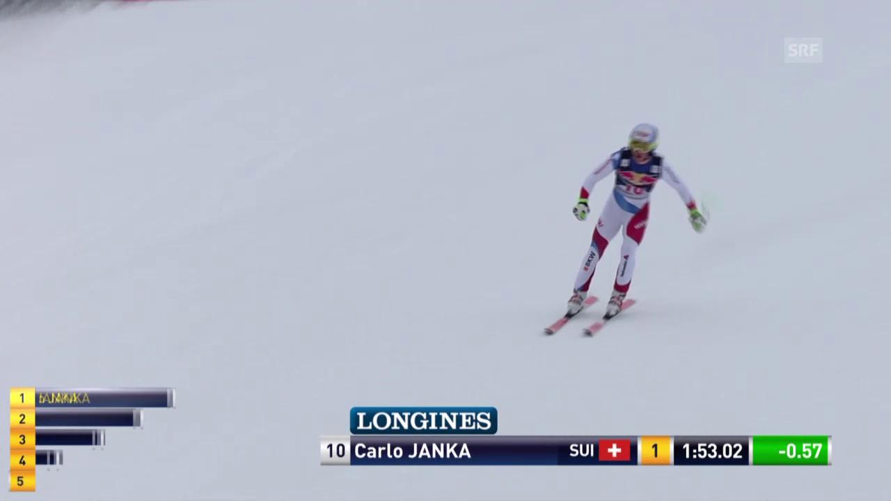 Die Fahrt von Carlo Janka auf der Streif