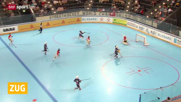 Video «Streethocke: Viertelfinal Schweiz - USA» abspielen