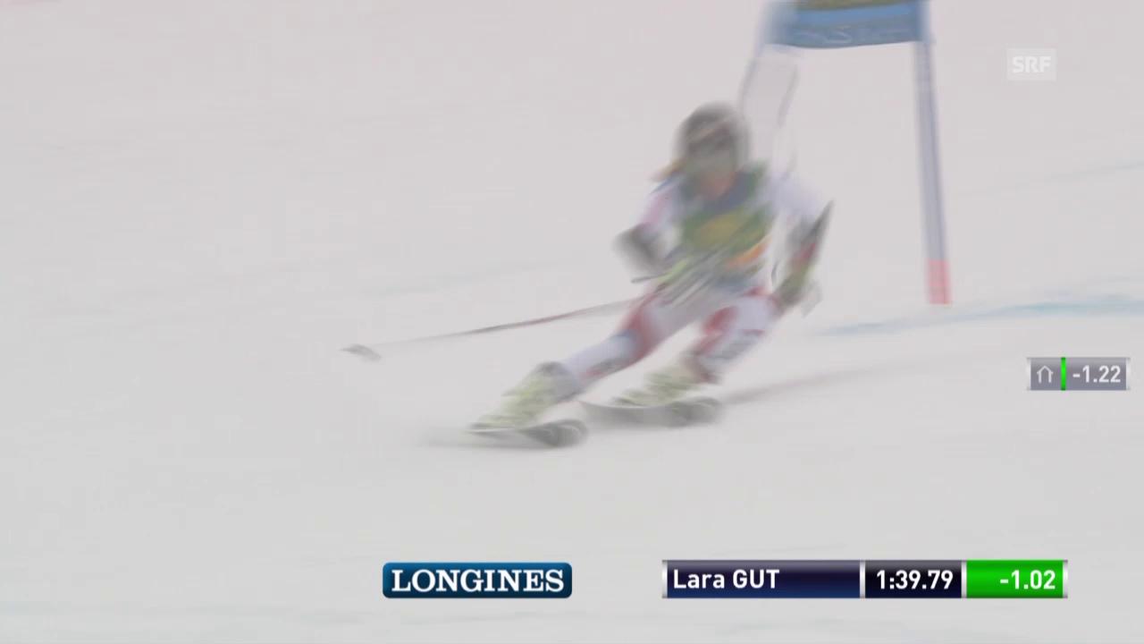 Lara Gut nimmt am Schluss etwas Gas weg und wird 4.
