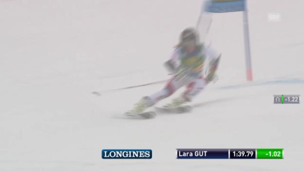 Video «Lara Gut nimmt am Schluss etwas Gas weg und wird 4.» abspielen