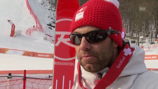 Video «Ski Alpin: Super-G Sotschi, Interview mit Didier Défago (sotschi direkt, 16.2.2014)» abspielen