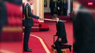 Video «Ringo Starr wird zum Ritter geschlagen» abspielen