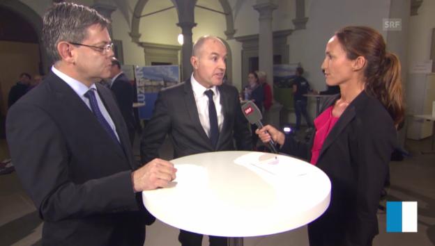 Video «LU: Gewinner und Verlierer im Interview» abspielen