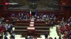 Video «Neue Parlaments-Spitzen in Italien» abspielen