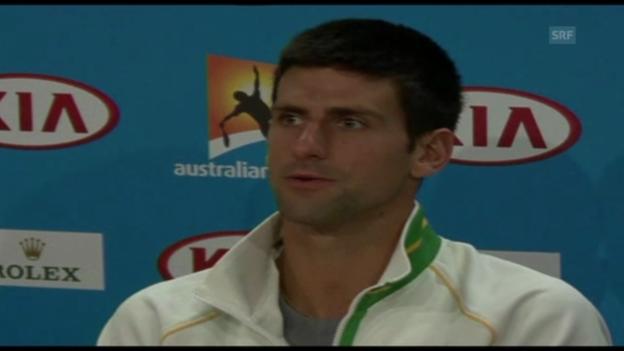 Video «Djokovic über Doping im Tennis (englisch)» abspielen