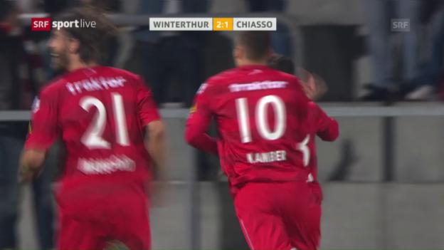 Video «Winterthur dreht Partie gegen Chiasso» abspielen